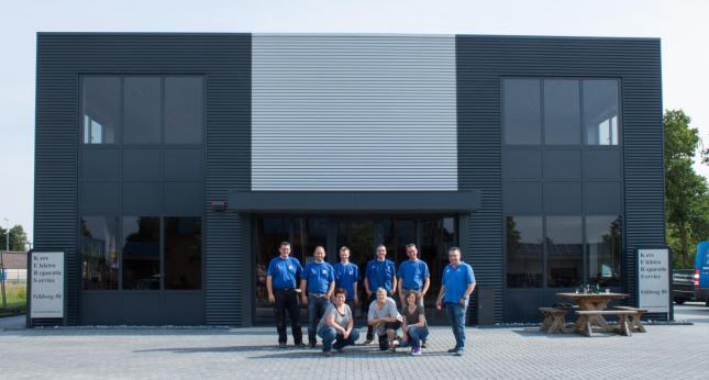Het personeel van Kers Elektro Repartie Service in Heerde